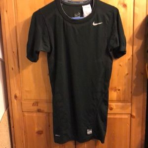 Nike pro black workout top size L
